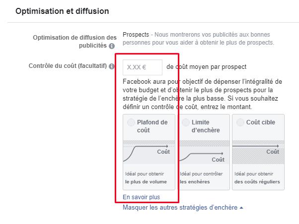 Capture d'écran Facebook Ads