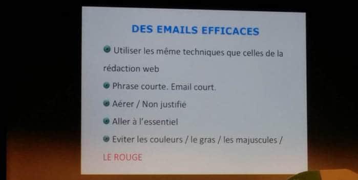 Les conseils pour des emails efficaces à Que du Web
