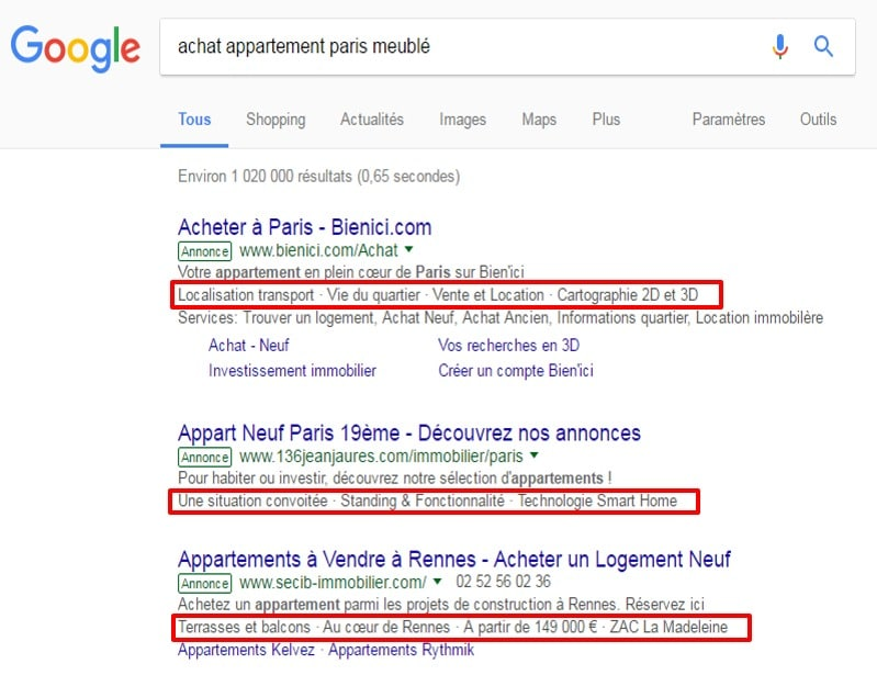 AdWords extension accroche