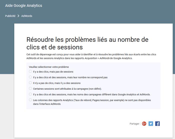 La différence entre clics et sessions dans Analytics et AdWords