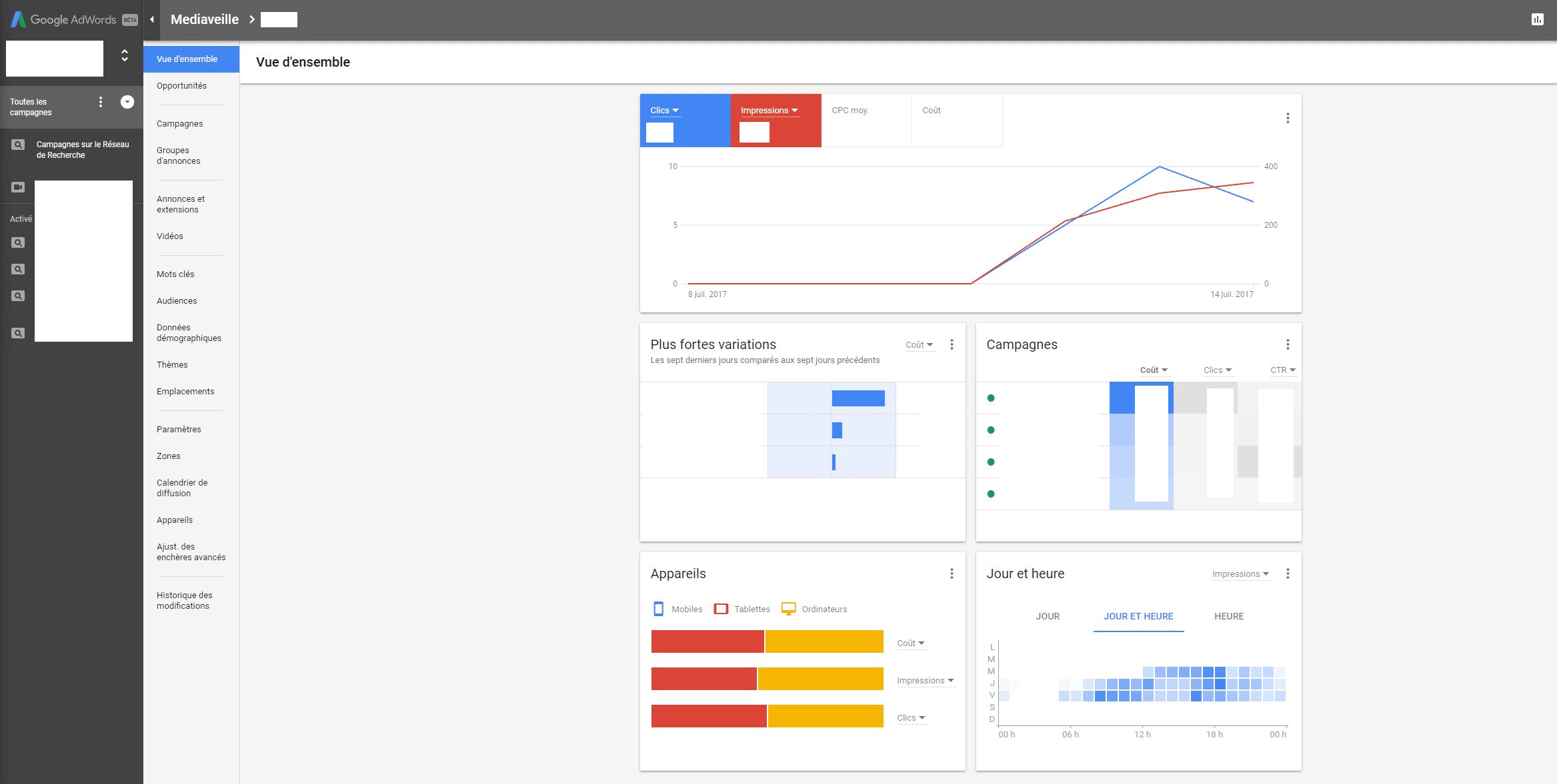 Google Adword : voici la nouvelle interface
