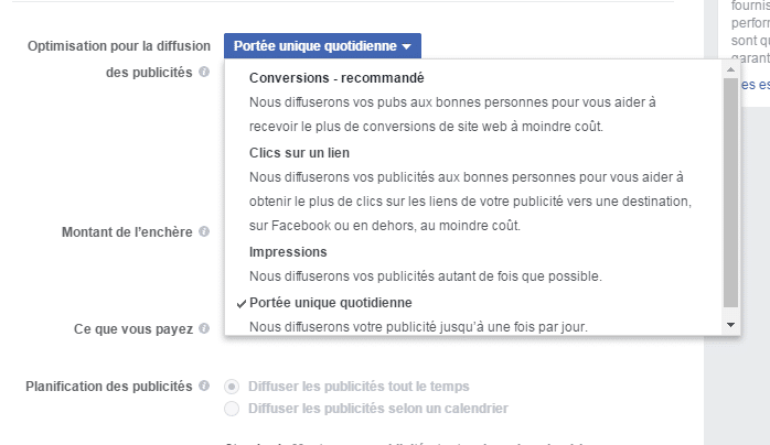 Optimiser une campagne Facebook Ads