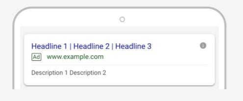 Google : les Annonces Responsive Search Ads