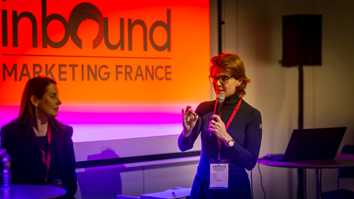 Speakerine lors dInbound Marketing France