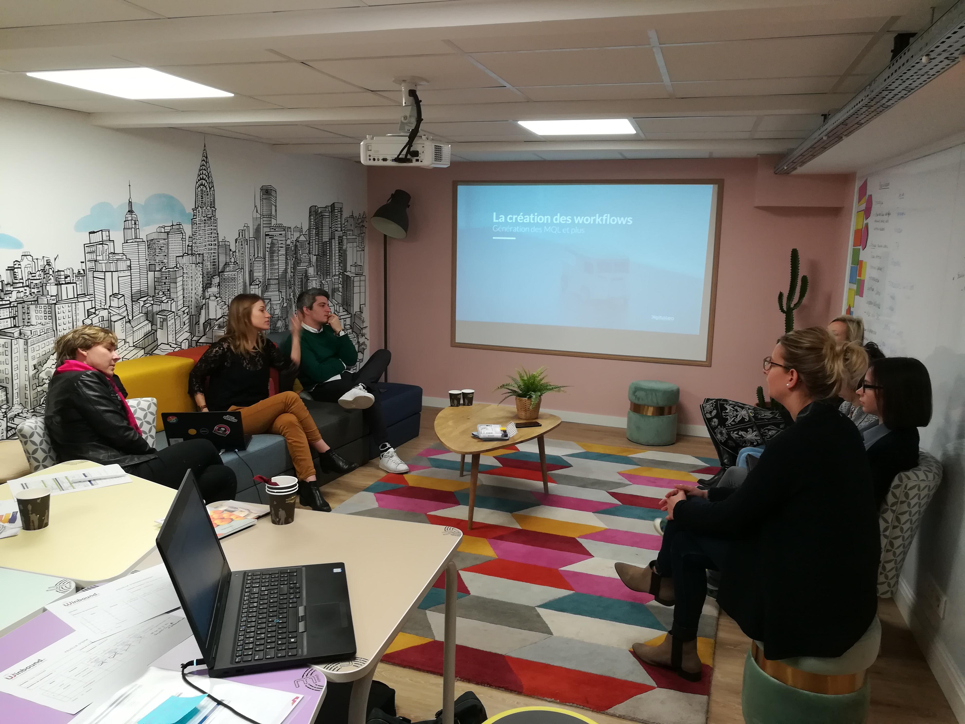 Collaborateurs de notre agence digitale de Rennes lors d'IMF Academy